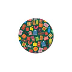 Presents Gifts Background Colorful Golf Ball Marker