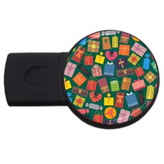 Presents Gifts Background Colorful USB Flash Drive Round (2 GB)