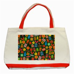 Presents Gifts Background Colorful Classic Tote Bag (red)
