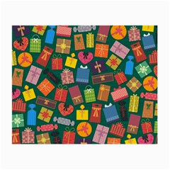 Presents Gifts Background Colorful Small Glasses Cloth (2-Side)