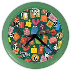 Presents Gifts Background Colorful Color Wall Clocks