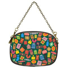 Presents Gifts Background Colorful Chain Purses (One Side)