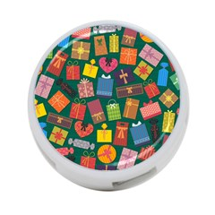 Presents Gifts Background Colorful 4-Port USB Hub (One Side)