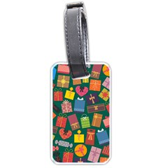Presents Gifts Background Colorful Luggage Tags (one Side)