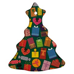 Presents Gifts Background Colorful Ornament (Christmas Tree)