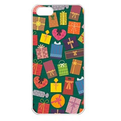Presents Gifts Background Colorful Apple iPhone 5 Seamless Case (White)