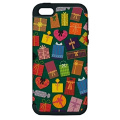 Presents Gifts Background Colorful Apple iPhone 5 Hardshell Case (PC+Silicone)