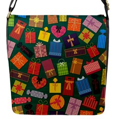 Presents Gifts Background Colorful Flap Messenger Bag (S)