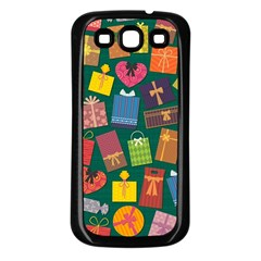 Presents Gifts Background Colorful Samsung Galaxy S3 Back Case (Black)