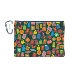 Presents Gifts Background Colorful Canvas Cosmetic Bag (m)