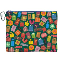 Presents Gifts Background Colorful Canvas Cosmetic Bag (xxxl)