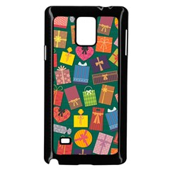 Presents Gifts Background Colorful Samsung Galaxy Note 4 Case (Black)