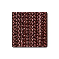Chain Rusty Links Iron Metal Rust Square Magnet