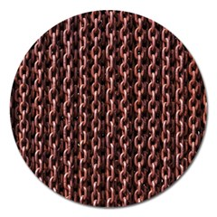 Chain Rusty Links Iron Metal Rust Magnet 5  (Round)