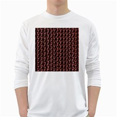 Chain Rusty Links Iron Metal Rust White Long Sleeve T-Shirts