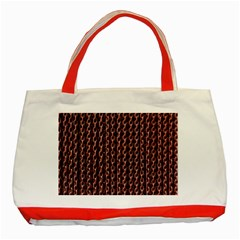 Chain Rusty Links Iron Metal Rust Classic Tote Bag (red)