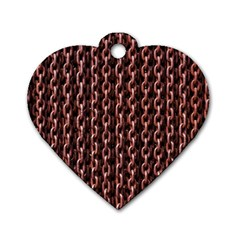 Chain Rusty Links Iron Metal Rust Dog Tag Heart (two Sides)