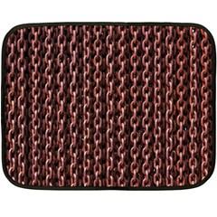 Chain Rusty Links Iron Metal Rust Double Sided Fleece Blanket (mini)