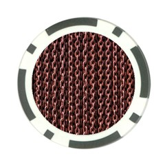 Chain Rusty Links Iron Metal Rust Poker Chip Card Guard (10 Pack)