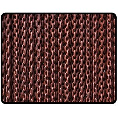 Chain Rusty Links Iron Metal Rust Fleece Blanket (Medium)