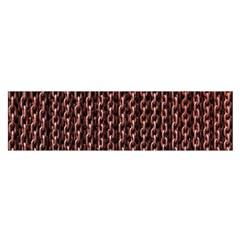 Chain Rusty Links Iron Metal Rust Satin Scarf (oblong)