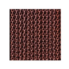Chain Rusty Links Iron Metal Rust Small Satin Scarf (Square)