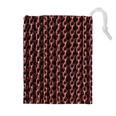 Chain Rusty Links Iron Metal Rust Drawstring Pouches (extra Large)