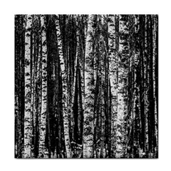 Birch Forest Trees Wood Natural Tile Coasters