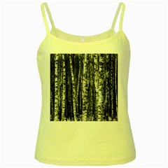 Birch Forest Trees Wood Natural Yellow Spaghetti Tank