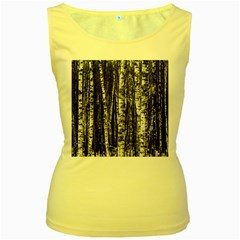 Birch Forest Trees Wood Natural Women s Yellow Tank Top