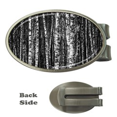 Birch Forest Trees Wood Natural Money Clips (Oval)