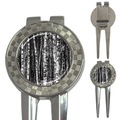 Birch Forest Trees Wood Natural 3 In 1 Golf Divots