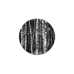 Birch Forest Trees Wood Natural Golf Ball Marker (4 pack)