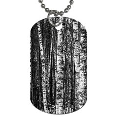 Birch Forest Trees Wood Natural Dog Tag (two Sides)