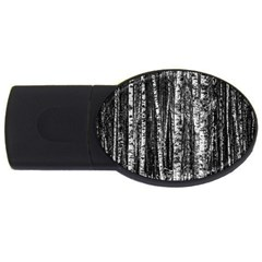 Birch Forest Trees Wood Natural USB Flash Drive Oval (2 GB)