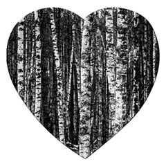 Birch Forest Trees Wood Natural Jigsaw Puzzle (Heart)