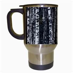 Birch Forest Trees Wood Natural Travel Mugs (White)