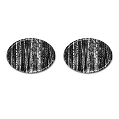 Birch Forest Trees Wood Natural Cufflinks (Oval)