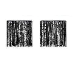 Birch Forest Trees Wood Natural Cufflinks (Square)