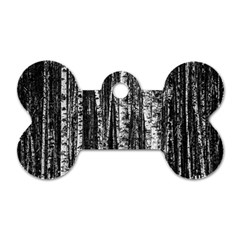Birch Forest Trees Wood Natural Dog Tag Bone (one Side)