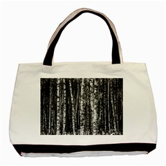 Birch Forest Trees Wood Natural Basic Tote Bag (two Sides)