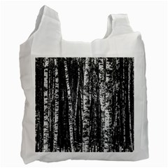 Birch Forest Trees Wood Natural Recycle Bag (One Side)