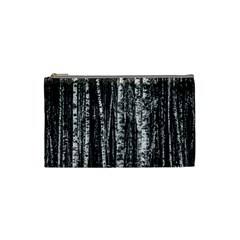 Birch Forest Trees Wood Natural Cosmetic Bag (Small)