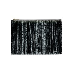 Birch Forest Trees Wood Natural Cosmetic Bag (medium)