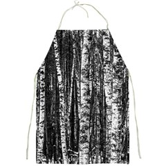 Birch Forest Trees Wood Natural Full Print Aprons