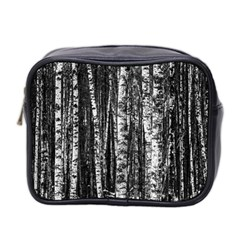 Birch Forest Trees Wood Natural Mini Toiletries Bag 2-Side