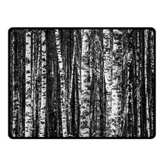 Birch Forest Trees Wood Natural Fleece Blanket (small)