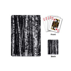 Birch Forest Trees Wood Natural Playing Cards (mini)