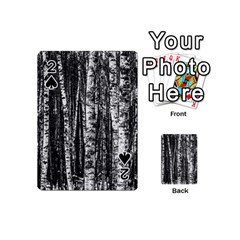 Birch Forest Trees Wood Natural Playing Cards 54 (mini)