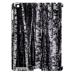 Birch Forest Trees Wood Natural Apple iPad 3/4 Hardshell Case (Compatible with Smart Cover)